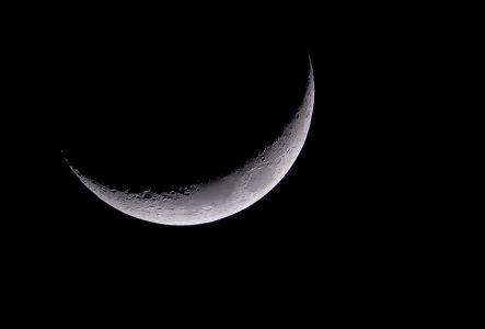Croissant de Lune du 26 mars 2012 (© Denis Lefranc, saplimoges)