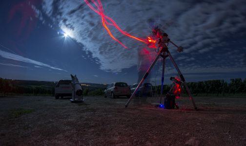Nuit d'observation du 17 août 2013 (© 2013 Denis Lefranc, saplimoges)
