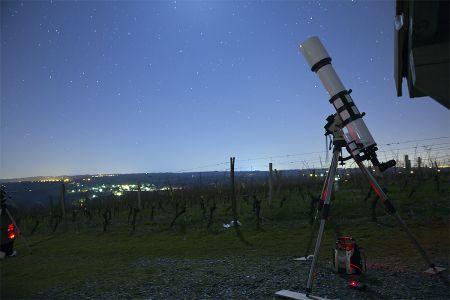 Lunette 152/1200 sur monture équatoriale (© 2014 Denis Lefranc, saplimoges)