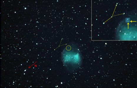 Goldilocks, étoile variable dans M27 (© 2013 Christian Jacquier, saplimoges)
