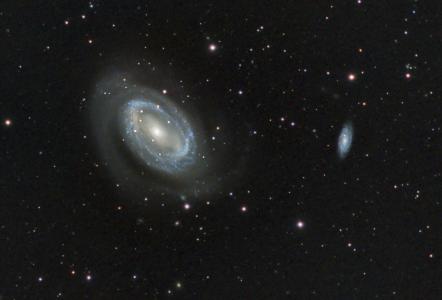 NGC 4725/Galaxie spirale (©2015 Jean-Pierre Debet, saplimoges)