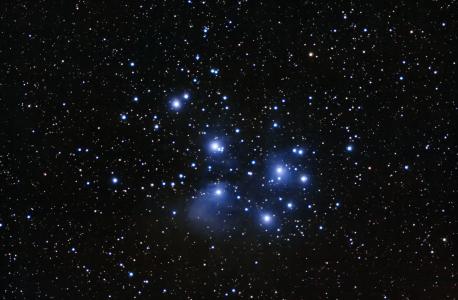 M45, l'amas des Pléiades (©2015 Michel Vampouille, saplimoges)
