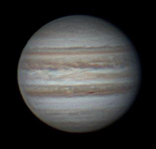 """<a href=""""http://saplimoges.fr/limage-du-mois-de-novembre-2012-la-planete-jupiter/""""><b>Zones et Ceintures de Jupiter (© 2012 Christophe Mercier, Saplimoges)</b></a>"""