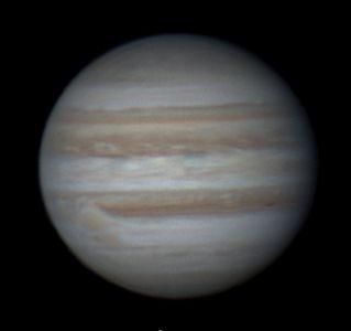 La Grande Tache Rouge de Jupiter (© 2012 Christophe Mercier, Saplimoges)