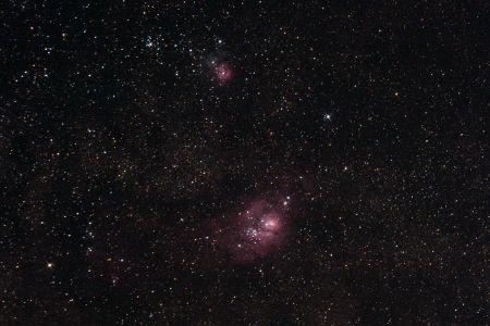 """<a href=""""http://saplimoges.fr/limage-du-mois-de-septembre-2010-les-nebuleuses-m8-et-m-20/""""><b>M8 et M20 / 2 nébuleuses dans le Sagittaire(©2010 Christophe Mercier, saplimoges)</b></a>"""