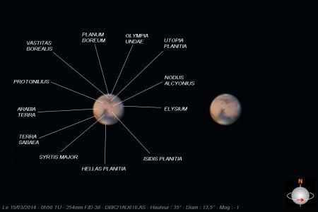 """<a href=""""http://saplimoges.fr/limage-du-mois-de-juin-2014-la-planete-mars/""""><b>Mars le 18 mars 2014 (© 2014 Christophe Mercier, Saplimoges)</b></a>"""