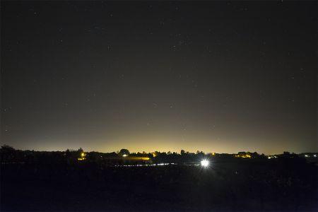 Pollution lumineuse à Verneuil sur Vienne (© 2014 Denis Lefranc, saplimoges)