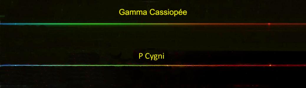 Spectres d'étoiles Be et LBV (© 2013 Michel Vampouille, saplimoges)
