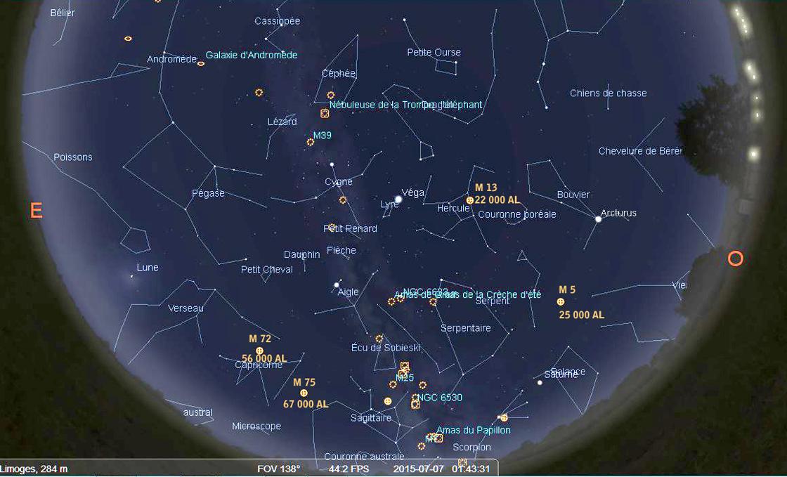 6 Voie Lactée Stellarium