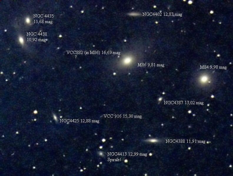 Galaxies dans Virgo