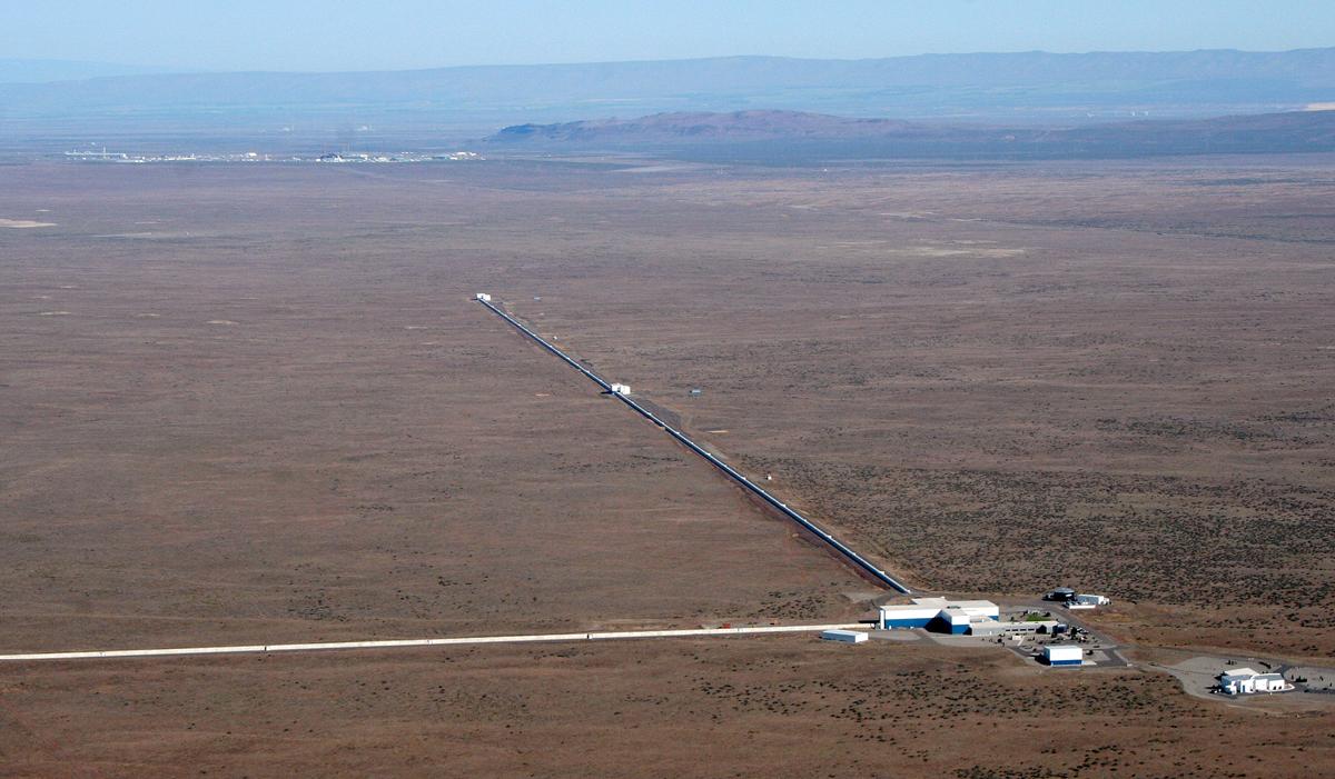 Interféromètre Ligo, Hanford, état de Washington. @ LIGO Laboratory