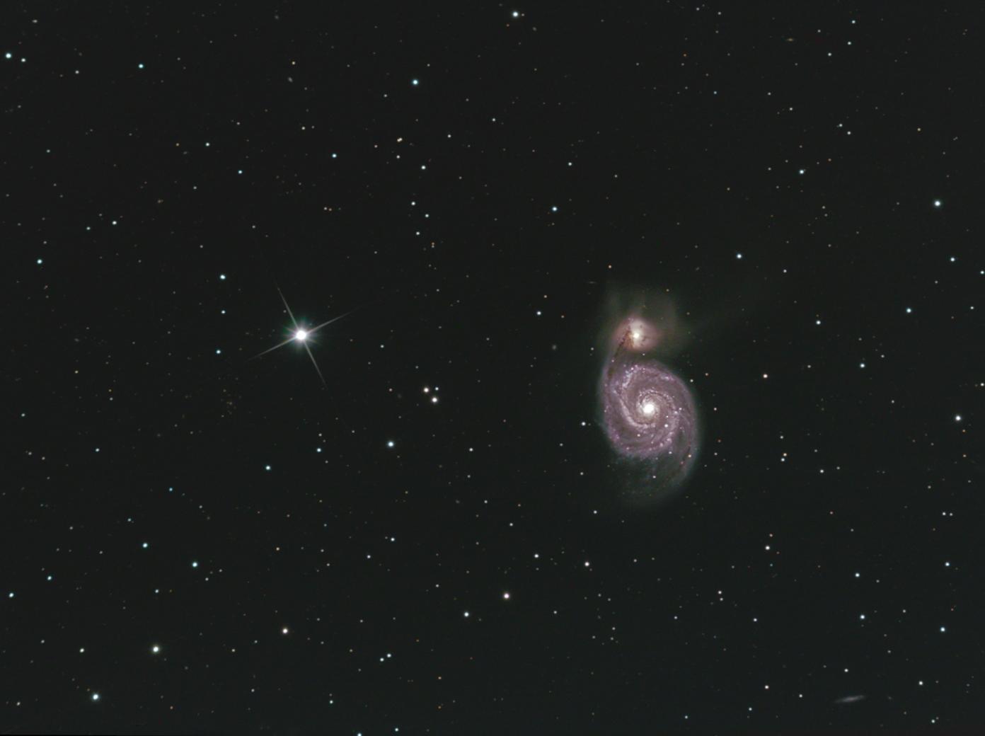 Galaxie du Tourbillon (Messier 51) Crédit Jean Pierre Debet