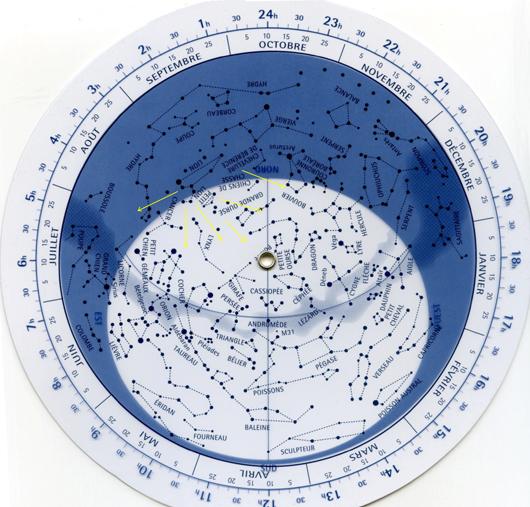 carte du ciel Léonides réduite