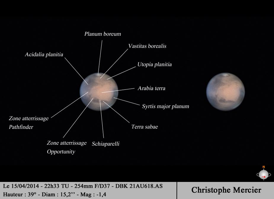 Géographie martienne 15 avril 2014 Christophe Mercier